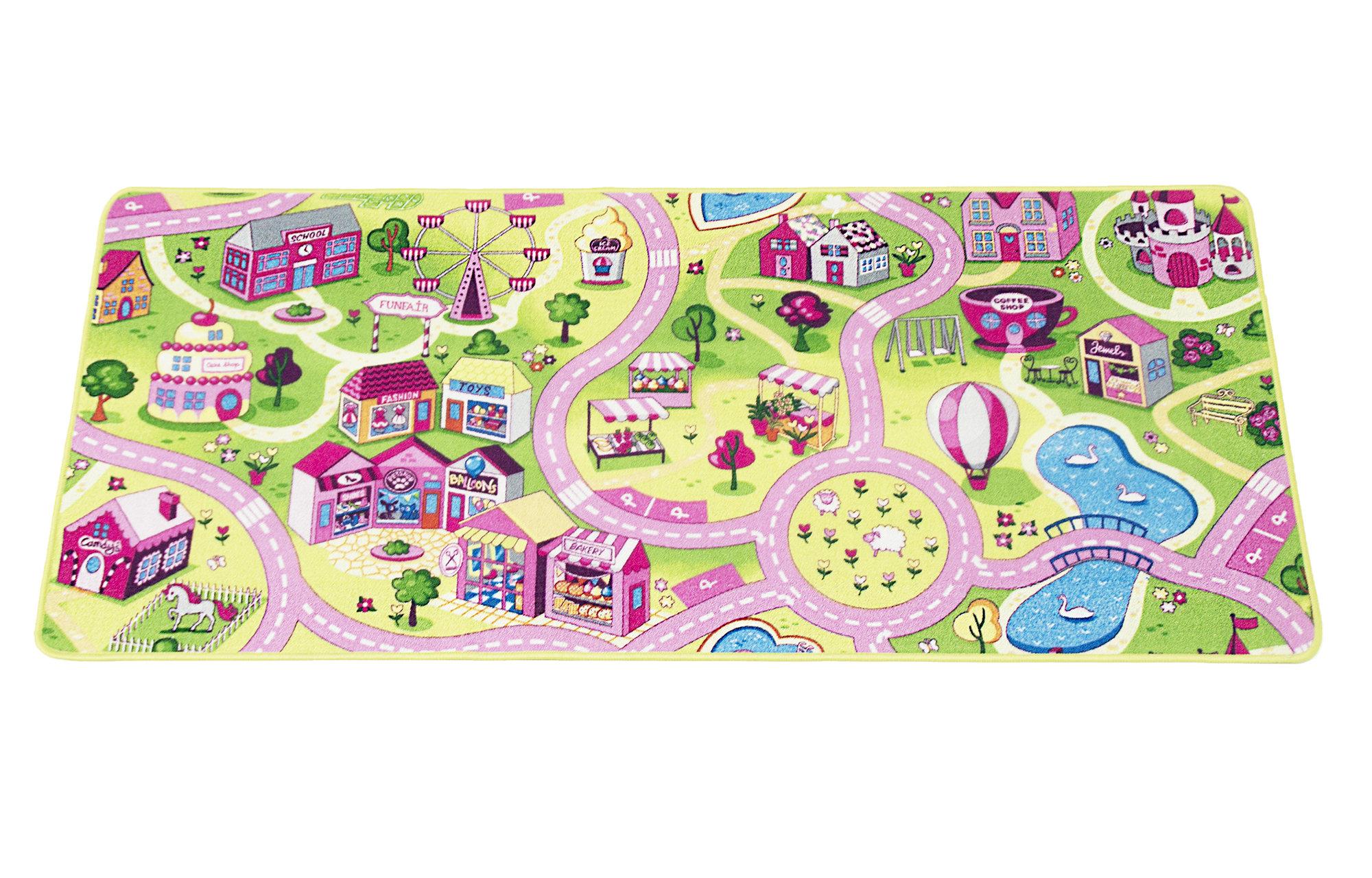 Learning Carpets Flatweave Pink Yellow Indoor Outdoor Area Rug Wayfair