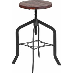 Hatchell Backless Adjustable Height Swivel Bar Stool Williston Forge