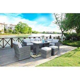 Outland 7 Piece Sofa Set with Cushions