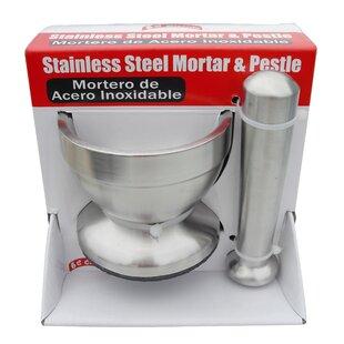 Sleek Stainless Steel Mortar and Pestle ByMBR Industries