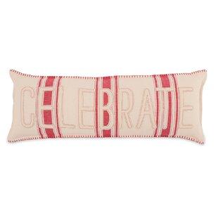 Celebrate Grain Sack Cotton Lumbar Pillow