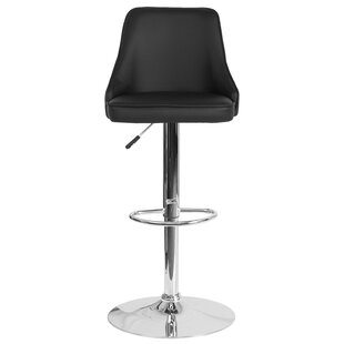 Glencoe Adjustable Height Bar Stool Wrought Studio