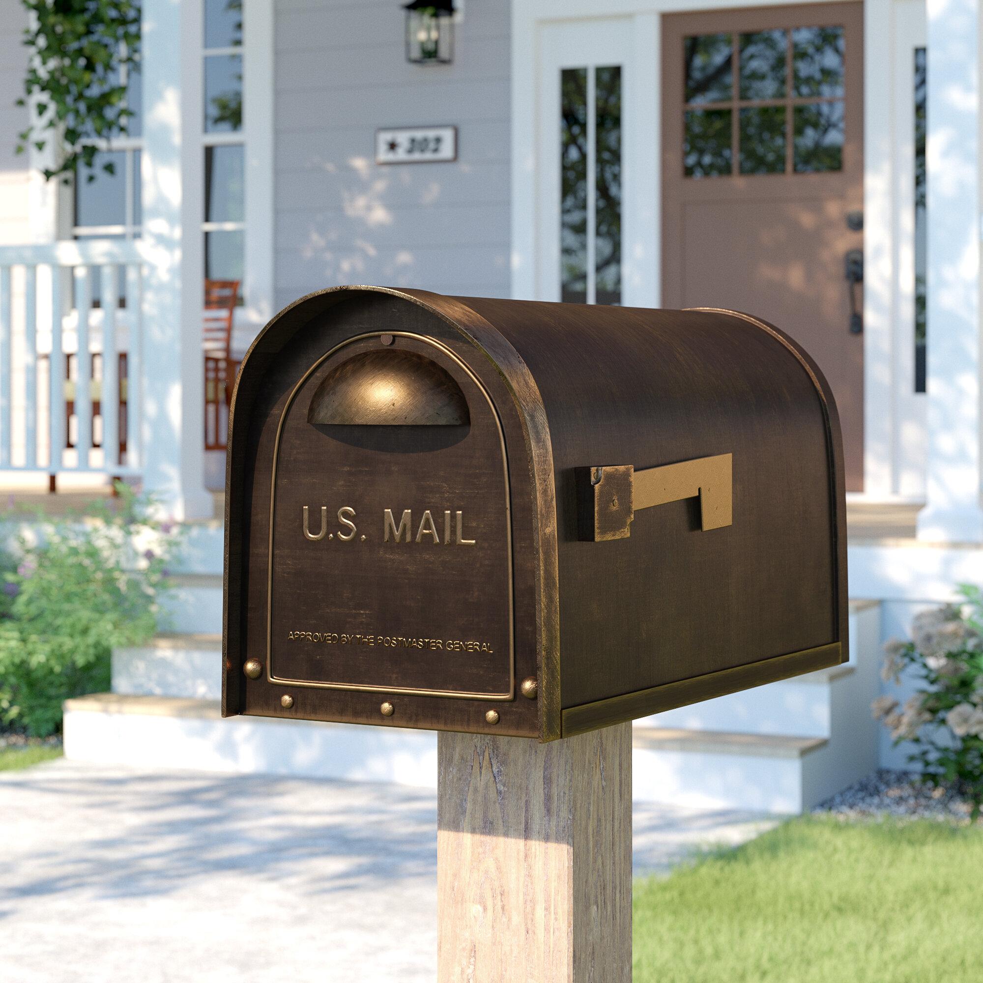 Sol 72 Outdoor Baldwin Post Mounted Mailbox Reviews Wayfair