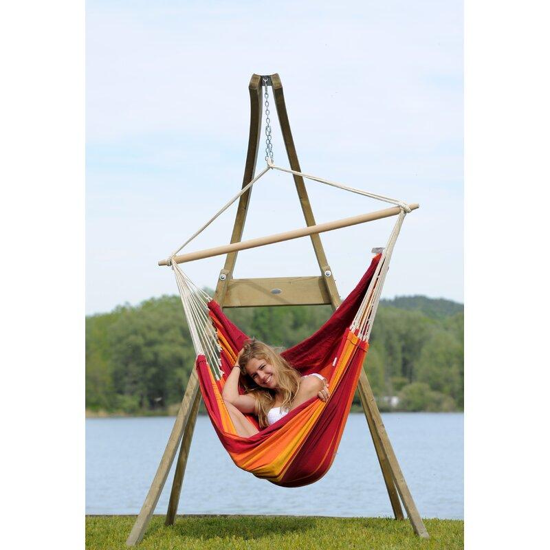 Sol 72 Outdoor Vassallo Wooden Hanging Chair Stand