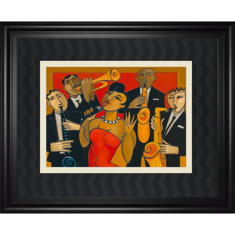 East Urban Home The Diva And Her Horn Section Framed Print Wayfair