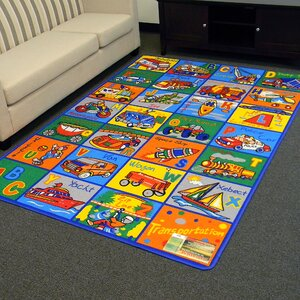 Paradise Alphabets Transportation Indoor Area Rug