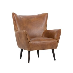 5west Luther Occasional Wingback Chair By Sunpan Modern