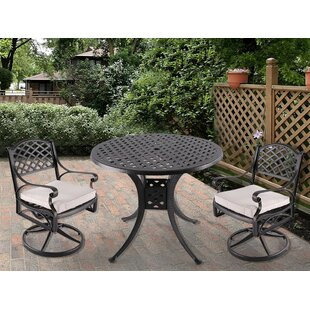 Watt 3 Piece Bistro Set with Cushions (Set of 5)