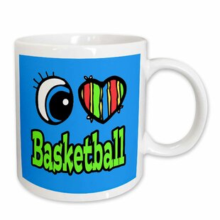 Bright Eye Heart I Love Basketball Coffee Mug