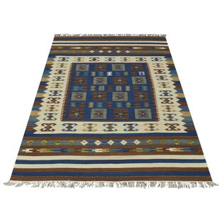 Handwoven Wool Blue Rug by Bakero
