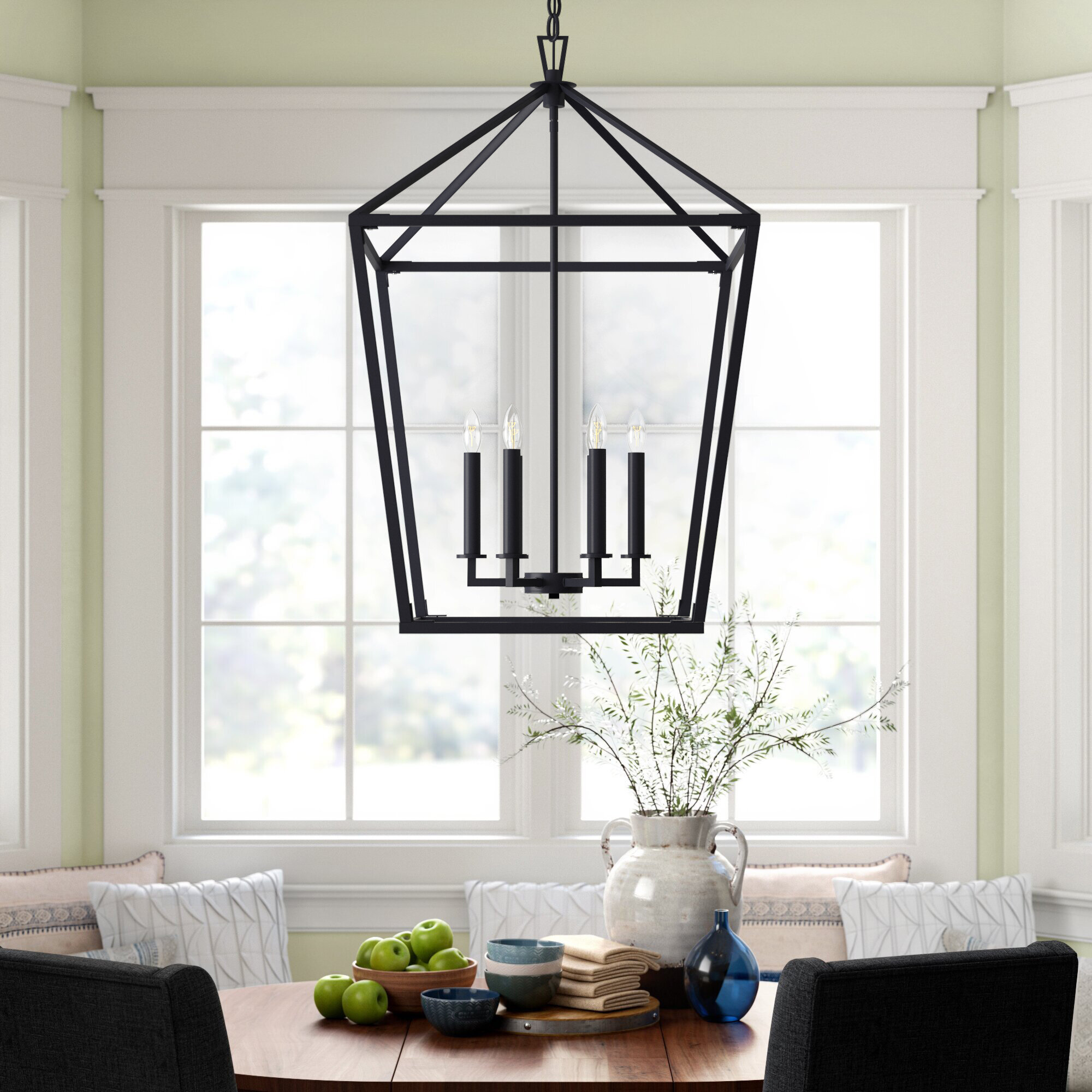 Israel 6 Light Lantern Geometric