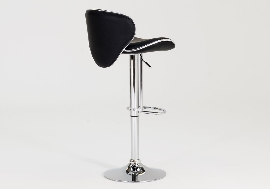 stools bar of adjustable stool ebay plastic height pk set chrome contemporary base with black itm