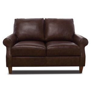 Rachel Leather Loveseat by Luke Leather