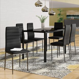 Haris 7 Piece Breakfast Nook Dining Set Ebern Designs