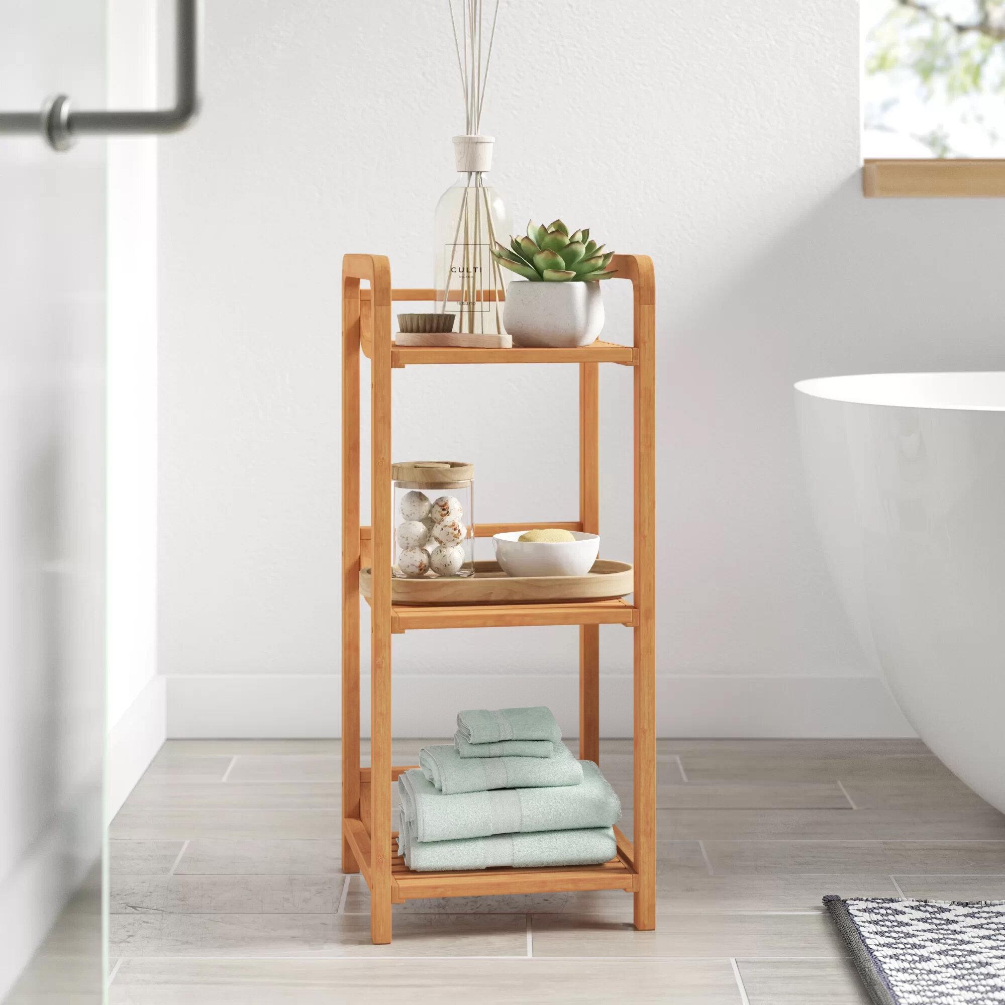 Dotted Line Ben 12 W X 27 75 H X 12 D Free Standing Bathroom Shelves Reviews Wayfair