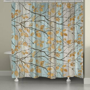 Serene Branches Single Shower Curtain