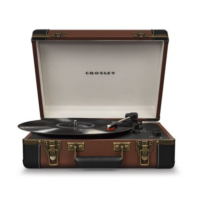 Executive Deluxe Portable USB Turntable Crosley Electronics Color: Brown
