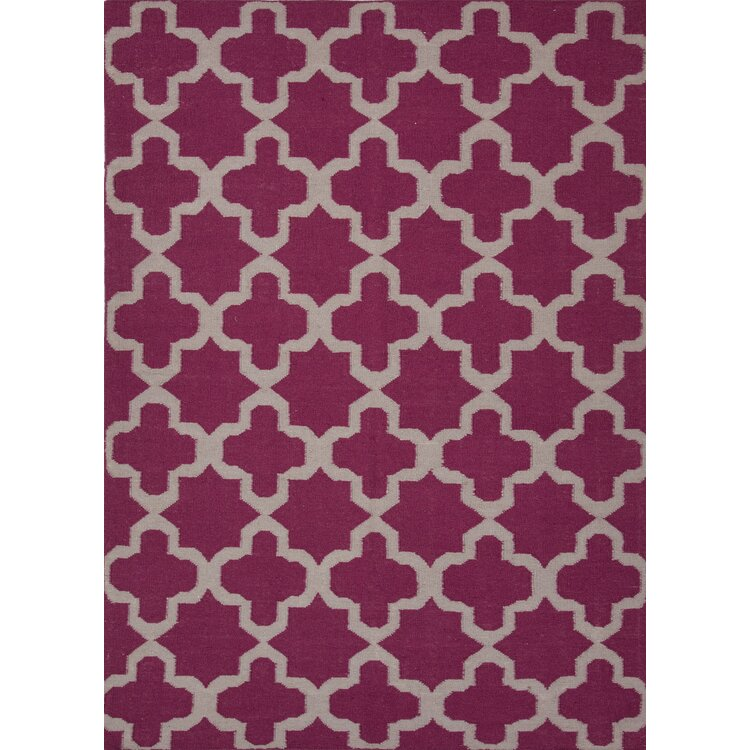 Mercer41 Chatswood Hand Woven Pink Area Rug Wayfair