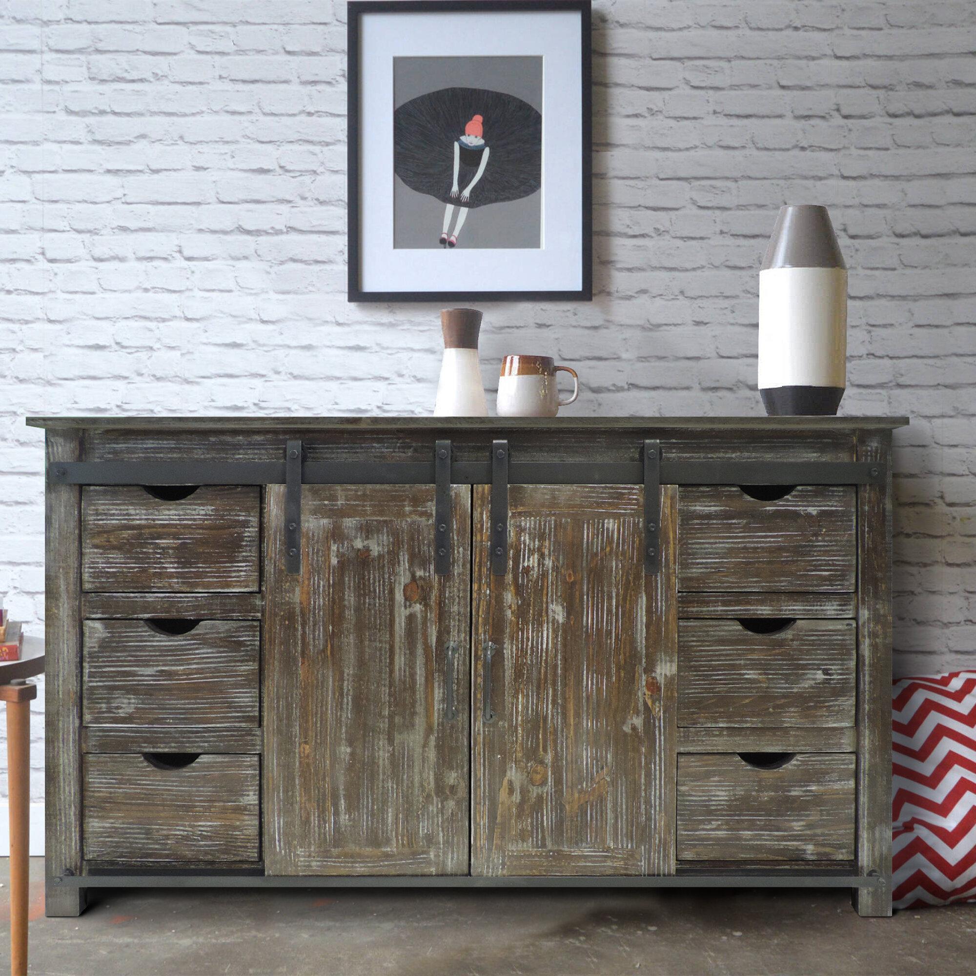 Laurel Foundry Modern Farmhouse Barbonne 70 Wide 6 Drawer Wood Credenza Wayfair