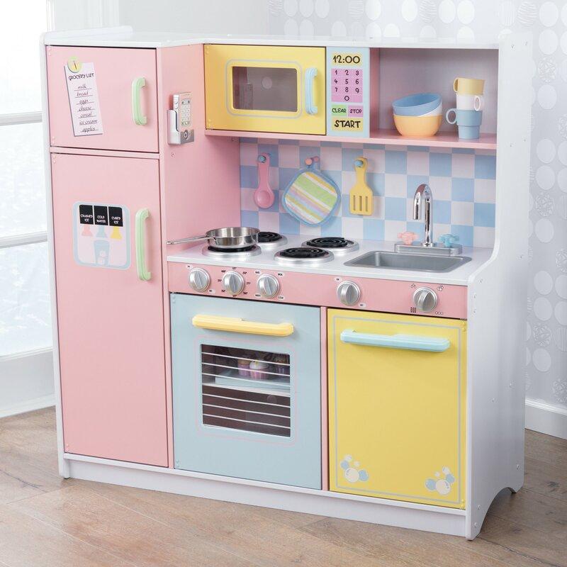 Kidkraft Pastel Kitchen Set Reviews Wayfair