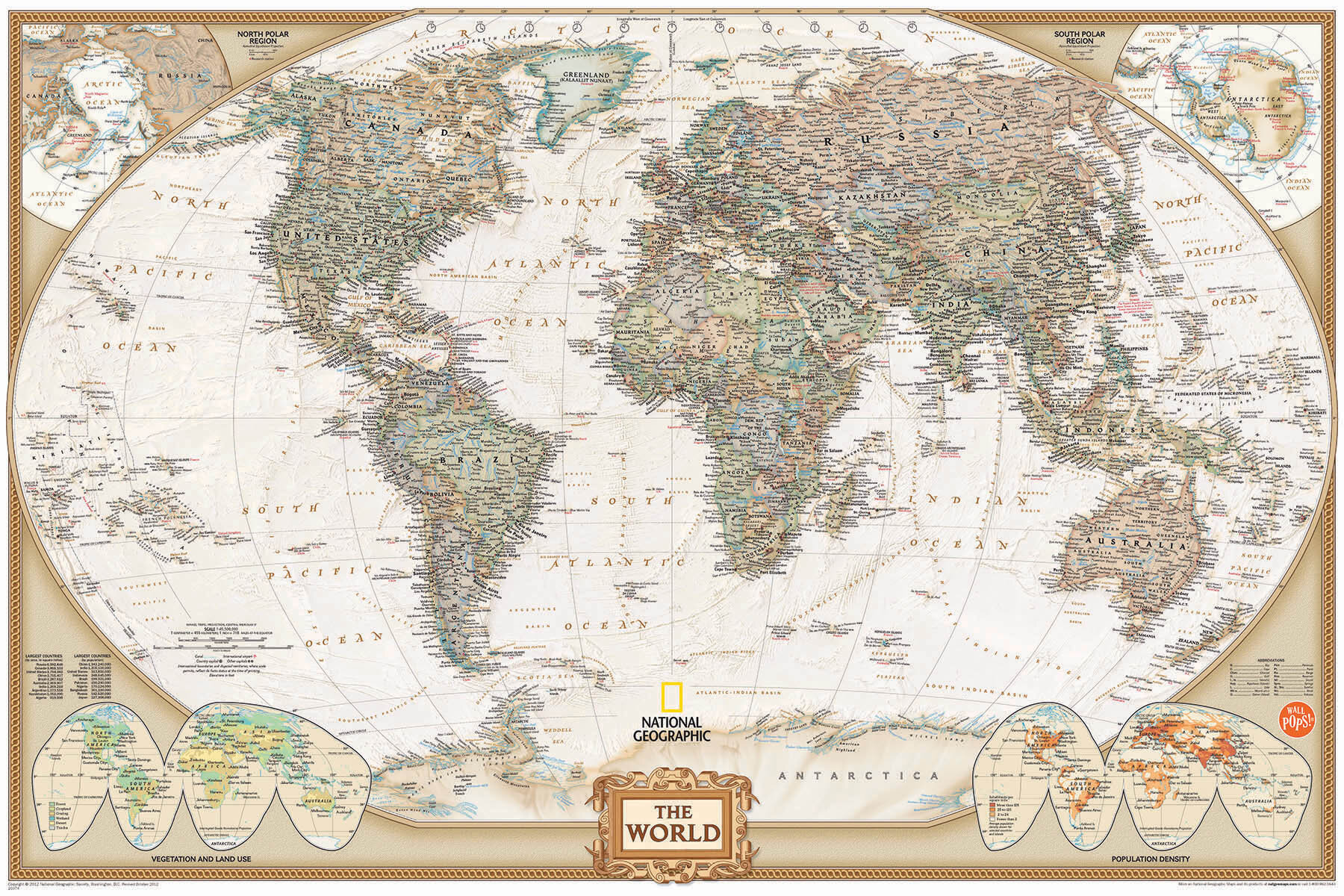 Wall Art Kit National Geographic World Map Mural Reviews