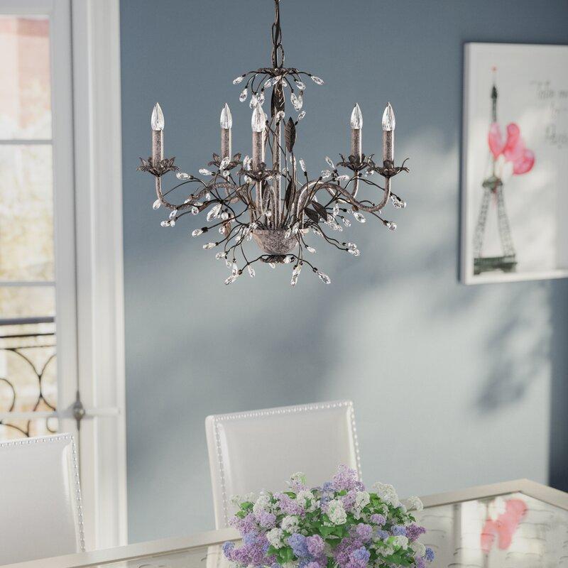 House of Hampton 5-Light Crystal Chandelier & Reviews | Wayfair