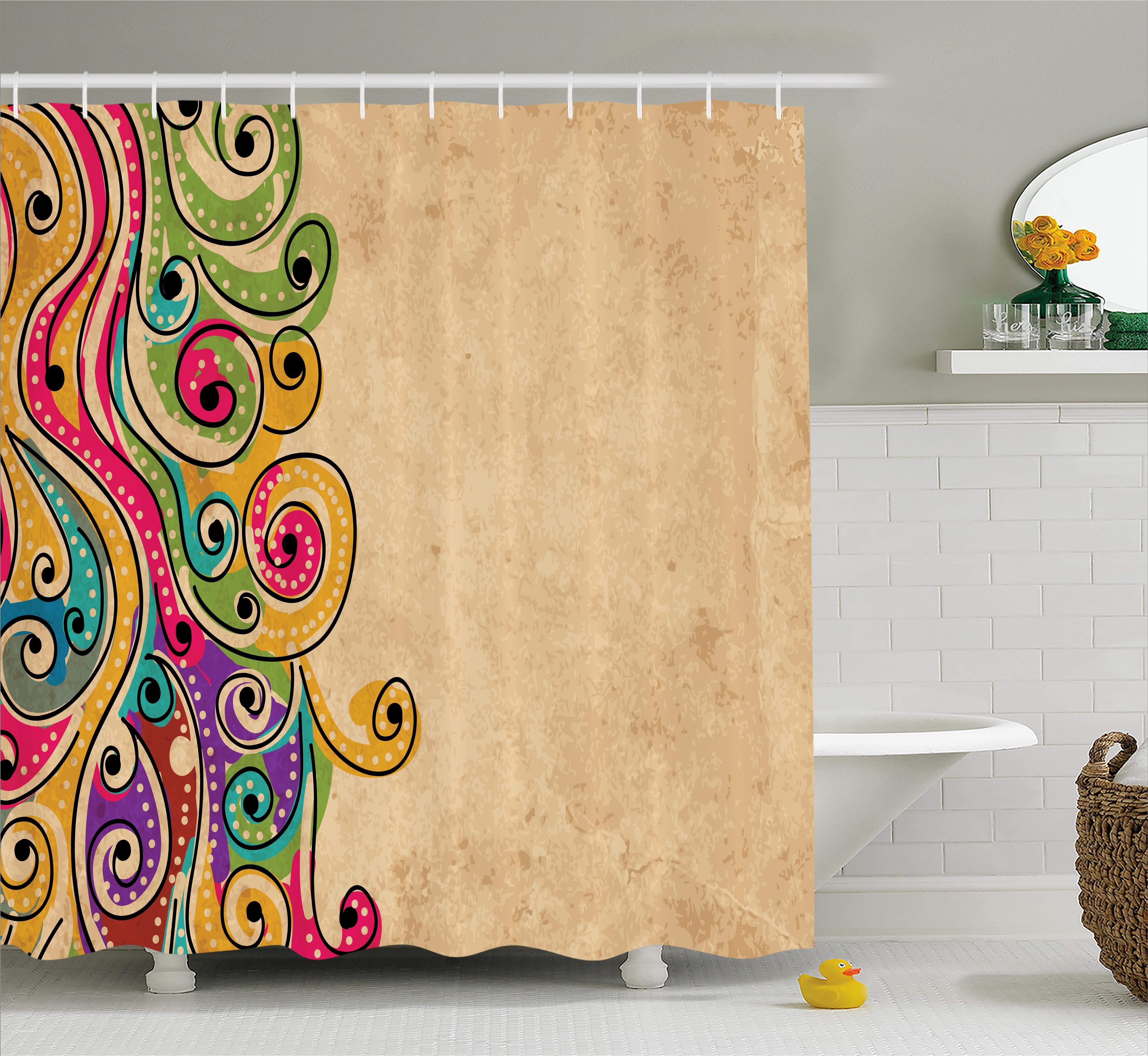 Ebern Designs Georgetta African Folk Art Forms Shower Curtain