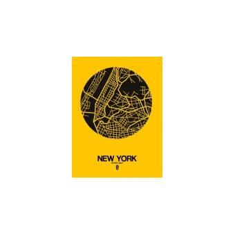 Naxart Mexico City Street Map Yellow Graphic Art Print On Canvas Wayfair