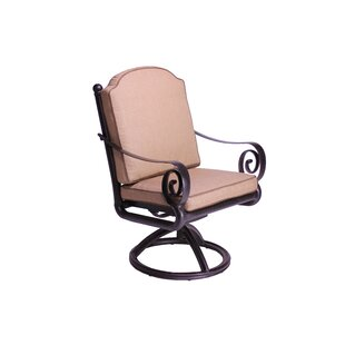 Westhampton Swivel Patio Dining Chair with Cushion (Set of 2)