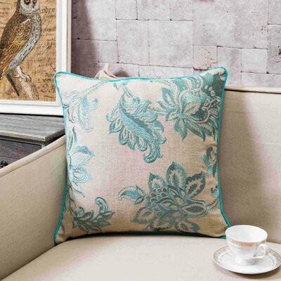 Flavien Embroidered French Country Throw Pillow Lark Manor Color: Harbor