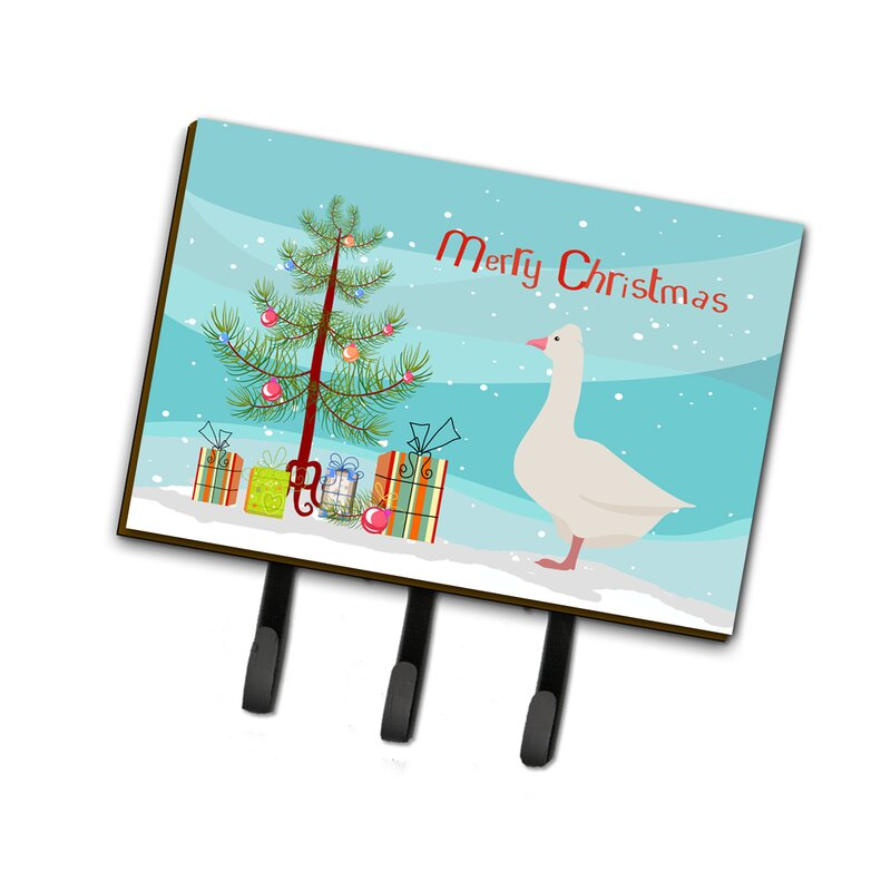 East Urban Home Illiopolis Roman Goose Christmas Wall Key Organizer With Key Hooks Wayfair