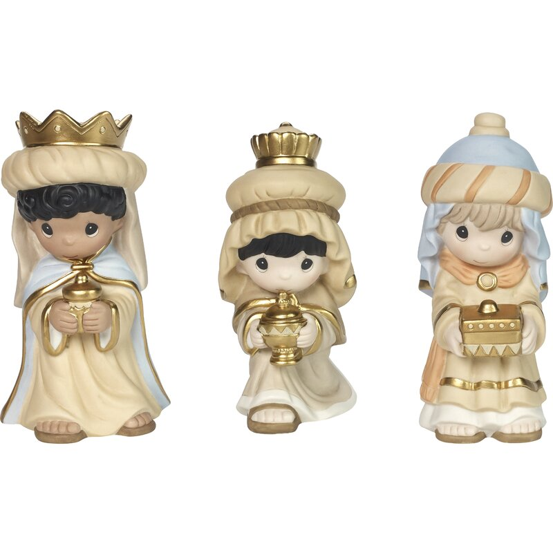 Precious Moments 3 Piece Kings Figurine Set Wayfair