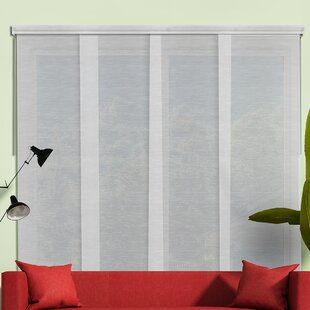 Sliding Panel Room Darkening Vertical Blind (Set Of 4)
