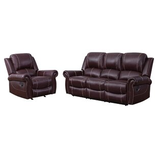 Lopp 2 Piece Leather Living Room Set