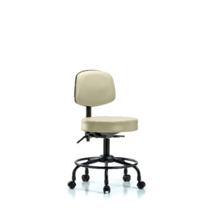 Norma Round Tube Base Desk Height Ergonomic Office Chair by Symple Stuff Wonderful