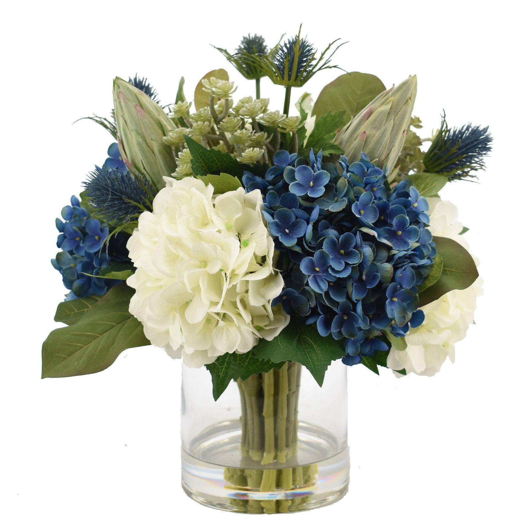 Luxury Hydrangea Faux Florals Perigold