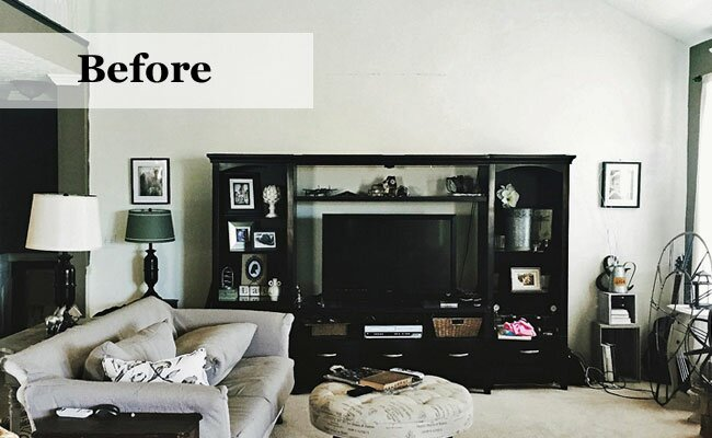 Before & After: Industrial Living Room Makeover | Wayfair