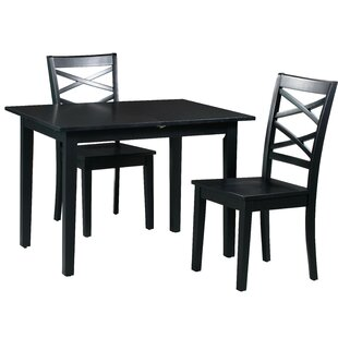Spiller 3 Piece Extendable Solid Wood Dining Set Winston Porter