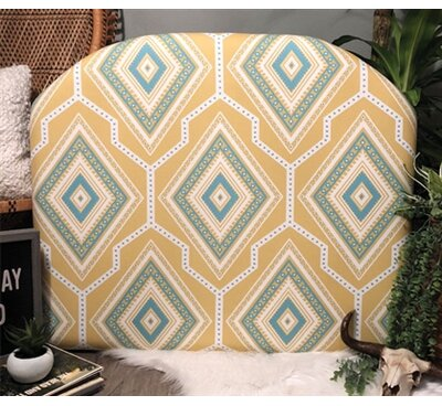 Zoomie Kids Houpt Arched Twin/Twin XL Upholstered Panel Headboard Upholstery: Yellow