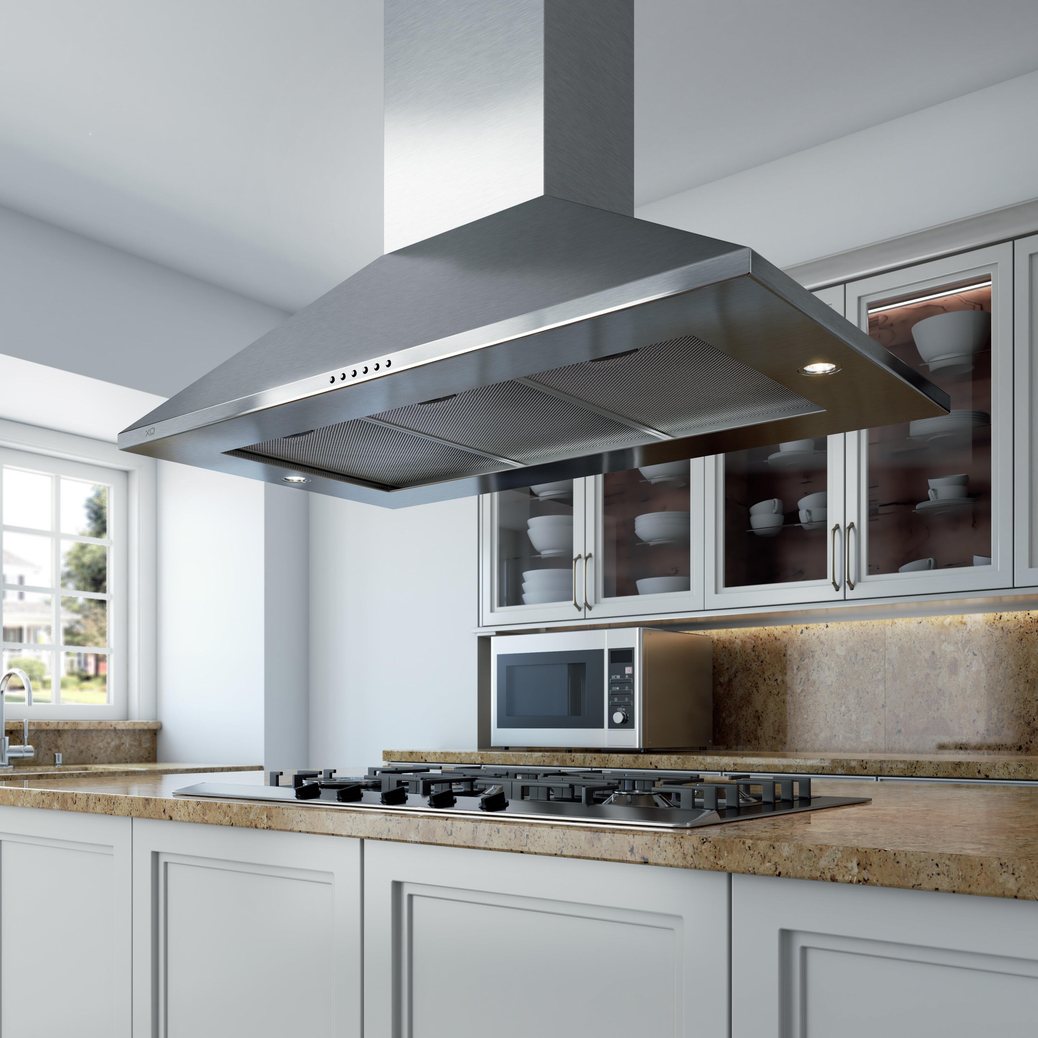 Picture of: Xo Appliance 42 600 Cfm Convertible Island Range Hood Wayfair
