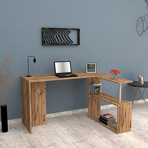 L-förmiger Schreibtisch Earle ModernMoments Farbe: Atlantic | Büro > Bürotische > Schreibtische | ModernMoments