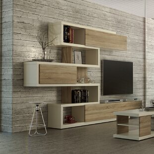 entertainment units you ll love wayfair co uk rh wayfair co uk  tv wall unit with glass shelves