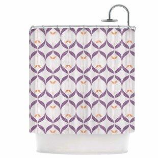 Textured Modern Reminisence Shower Curtain