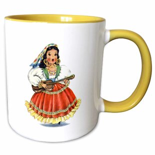 Hyman Print of Retro Mexican Doll in Native Dress Coffee Mug