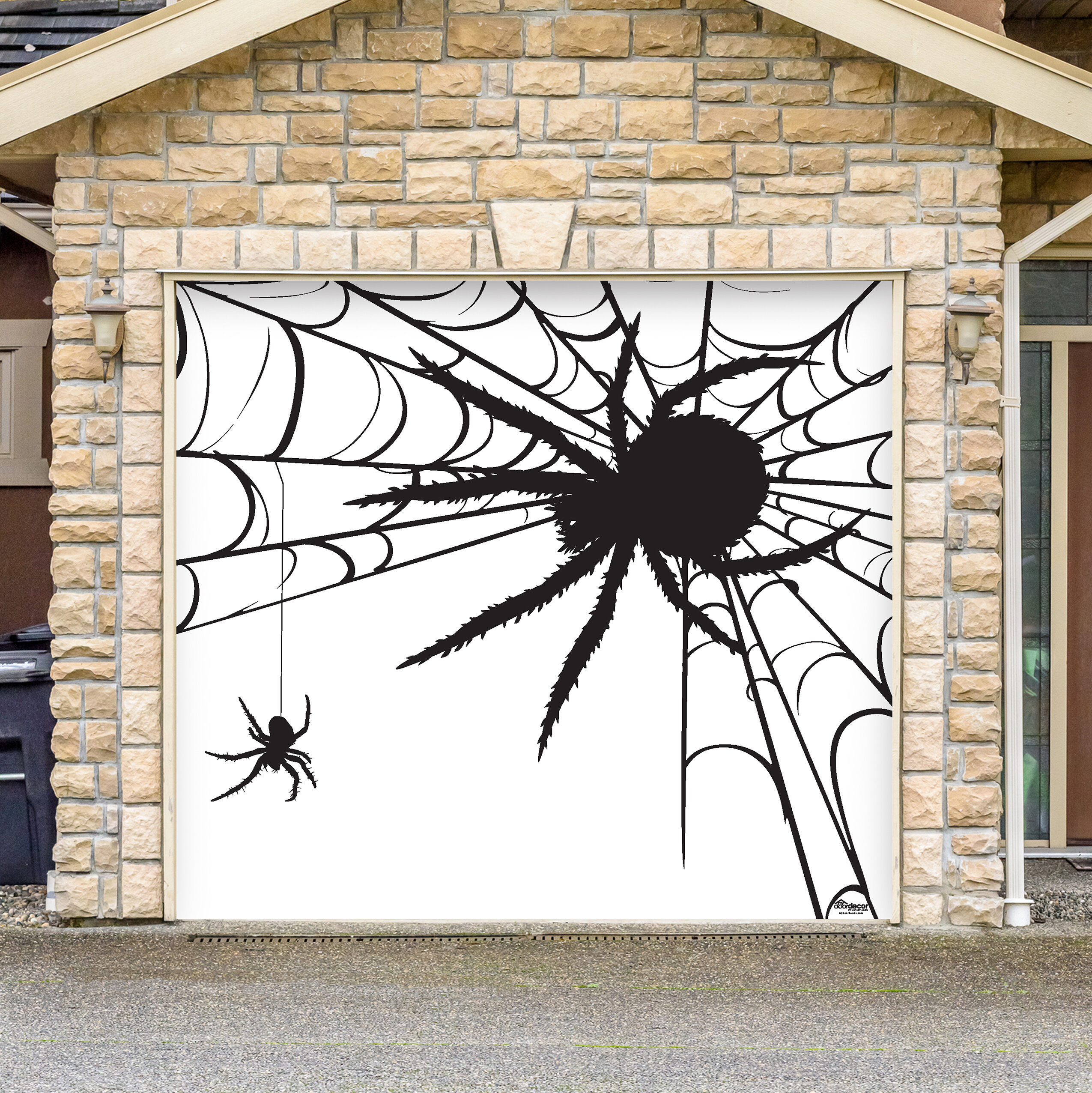 The Holiday Aisle Spiders Halloween Garage Door Mural Reviews Wayfair