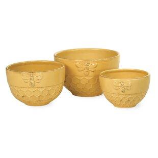 Gouet 3 Piece Ceramic Nesting Bowl Set
