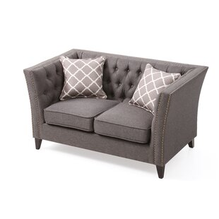Dunstan Chesterfield Loveseat by Canora Grey