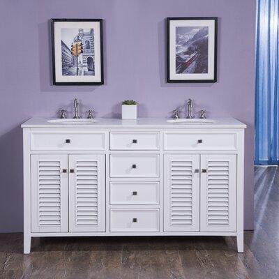 "Bathroom Vanities Quincy Ma ari kitchen & bath madison 60"" double bathroom vanity set"