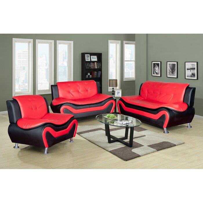 Finck 3 Piece Living Room Set