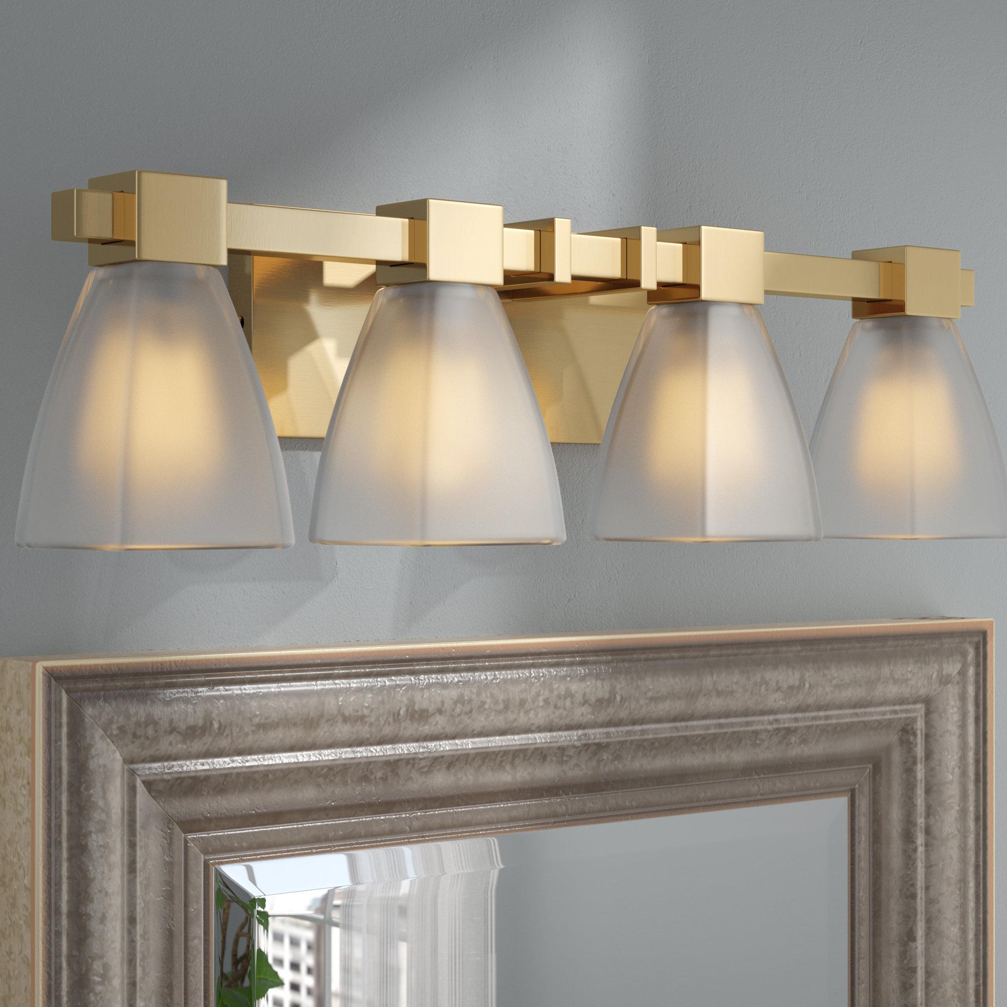 Wrought Studio Weehawken Modern 4 Light Vanity Light Reviews Wayfair
